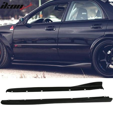 (Fits 02-07 Subaru Impreza WRX STI CS Style Side Skirts 2PC Polyurethane PU)