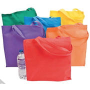 Large Bright Tote Bags, Set of 12 in Assorted Colors