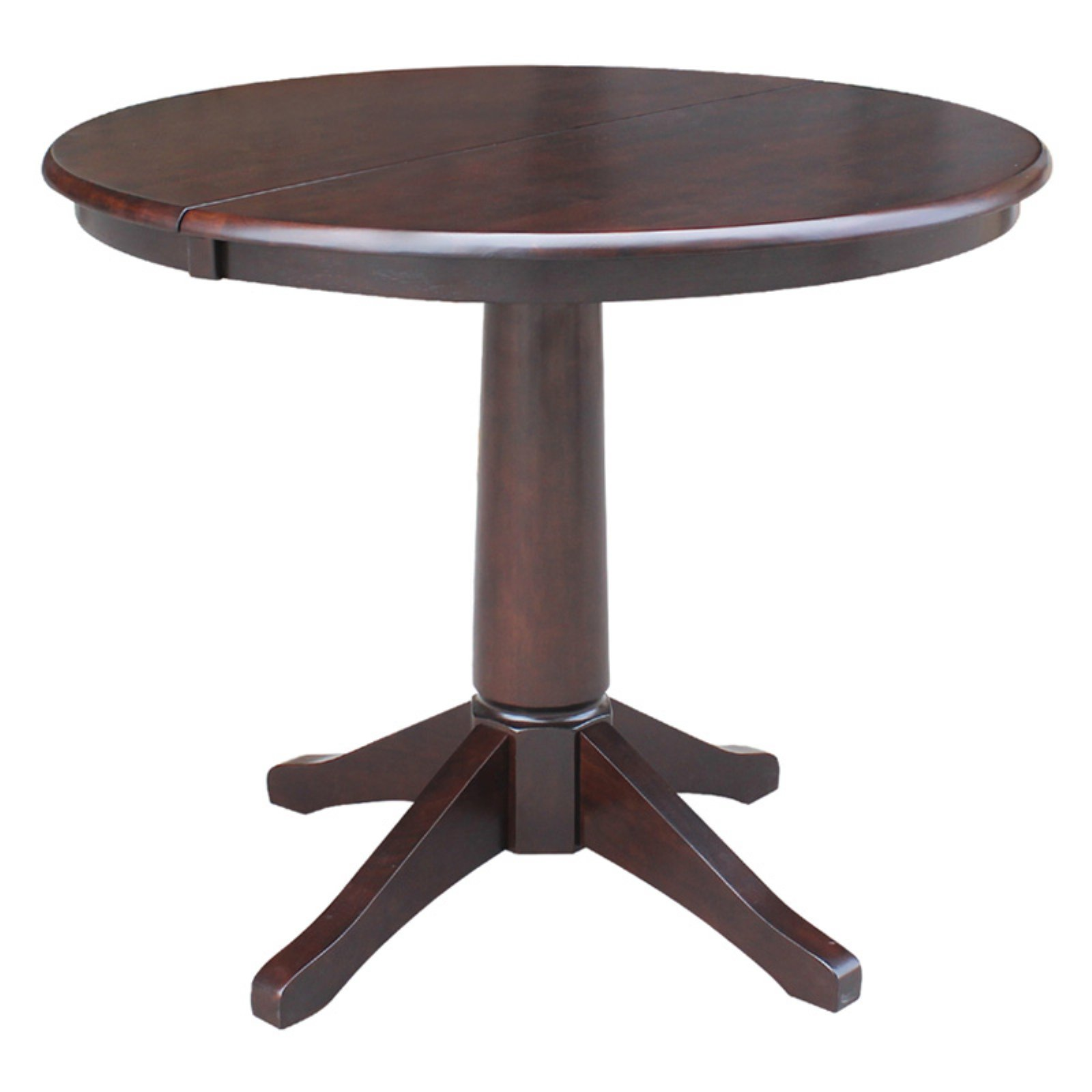 """36"""" Round Top Pedestal Table with 12"""" Leaf - Dining Height"""