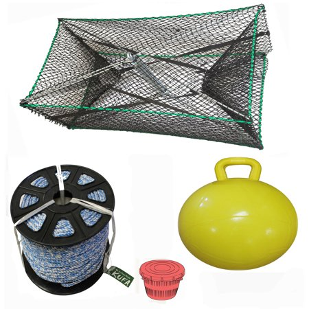 KUFA Sports Galvanized Steel Foldable Prawn trap with 400