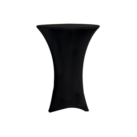 Your Chair Covers - 36 inch Highboy Cocktail Round Stretch Spandex Table Cover Black for Wedding, Party, Birthday, Patio, etc. ()