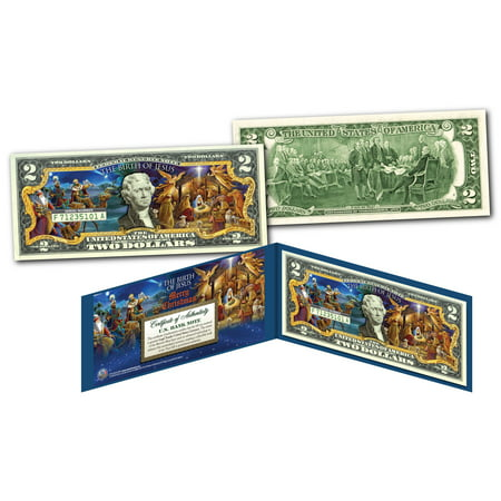 BIRTH OF JESUS Merry XMAS 3 Wise Men Nativity Genuine Legal Tender U.S. $2