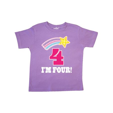 4th Birthday 4 Year Old Girls Rainbow Star Toddler (Christmas Presents For 4 Yr Old Girl)