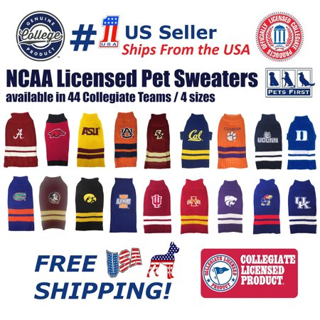 2cd44e850 Pets First Collegiate Auburn Tigers Pet Dog Sweater - Licensed 100% Warm  Acrylic knitted. 44 College Teams, 4 sizes - Walmart.com