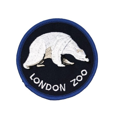 Polar Bear Patch - UK Travel London Zoo Polar Bear Patch Regent's Park Souvenir Iron-On Applique