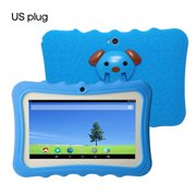 """Tablette PC Wi-Fi Quad-Core Wi-Fi Quad-Core pour enfants de 7 """"avec étui de protection en silicone antichoc pour cadeau éducatif pour enfants"""
