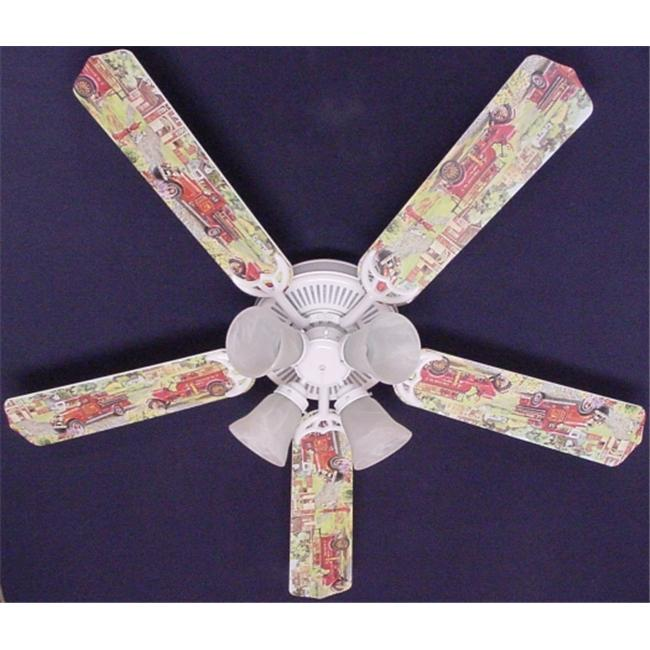 Ceiling Fan Designers 52FAN-KIDS-KRFT Fire Trucks Ceiling Fan 52 inch