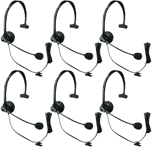Panasonic KX-TCA60 Over The Head Headset W/ Noise-Canceling Microphone ( 6 Pack )