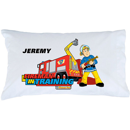 Personalized Fireman Sam In Training Pillowcase
