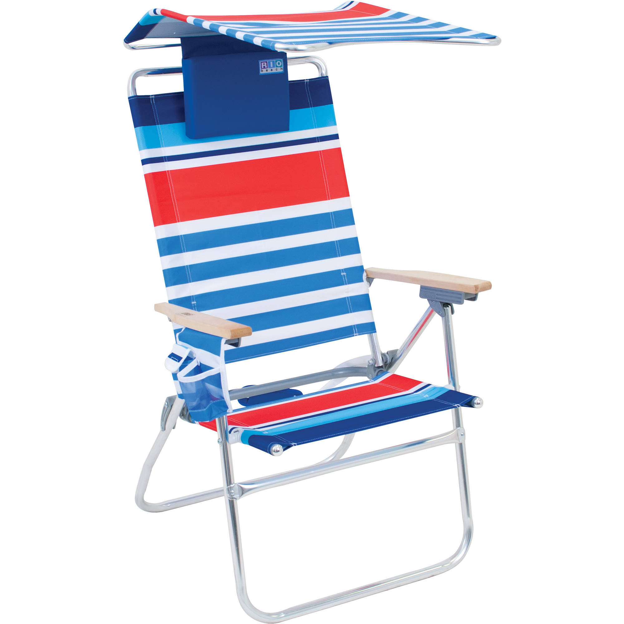 RIO Hi Boy Beach Chair with Shade Canopy (UPF 50+) – Aluminum Frame with 17 inch Seat Height