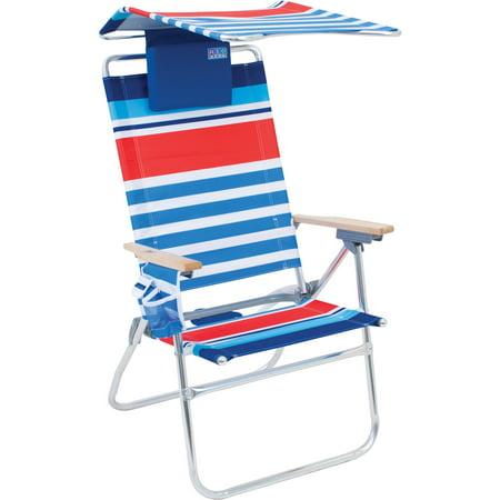 Rio Hi Boy 7 Position Beach Chair With Adjustable Canopy