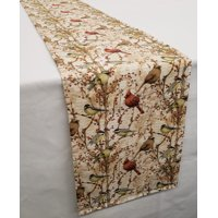 Birds & Berries Table Runner by Penny's Needful Things (3 Feet Long) (Burgundy)