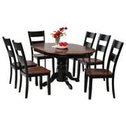 Valleyview Dining Set-Finish:Distressed Light Cherry/Black,Quantity:7 Piece
