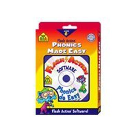 Flash Action Phonics Made Easy - Box pack - 1 user - Win, Mac 100 Flash Action Software
