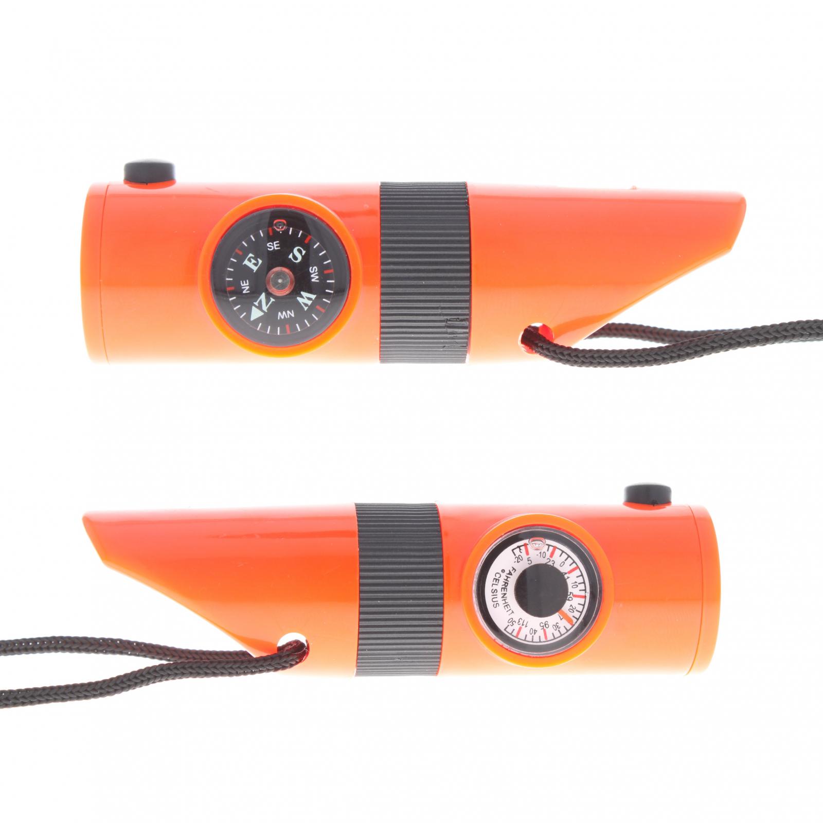 Fonction de survie Whistle Outil vert durgence avec thermom/ètre boussole LED Loupe Miroir pour Camping randonn/ée p/édestre