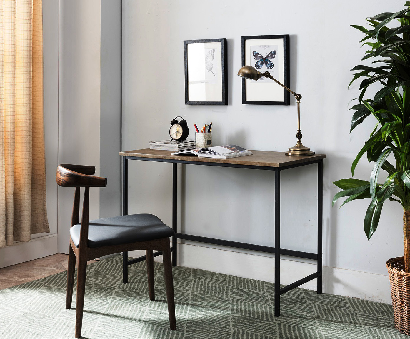 industrial style home office. Kinley Gray \u0026 Black Industrial Style Home Office Computer Workstation Desk Industrial Style Home Office U