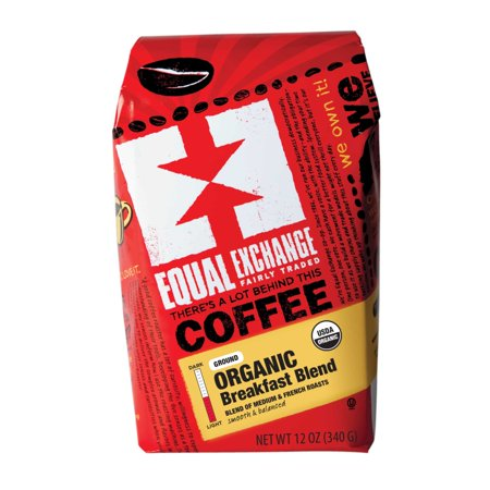 Equal Exchange Organic Breakfast Blend Ground Coffee, 12 Ounces