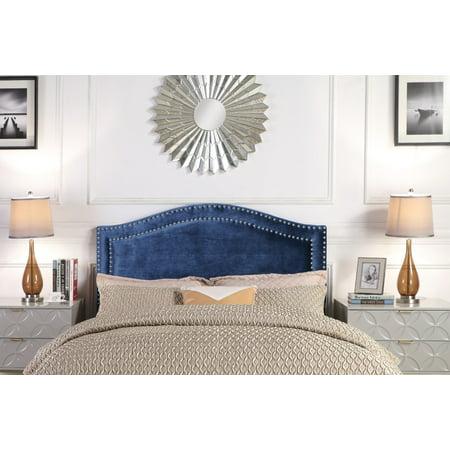 Chic Home Idun Headboard Velvet Upholstered Double Row ()