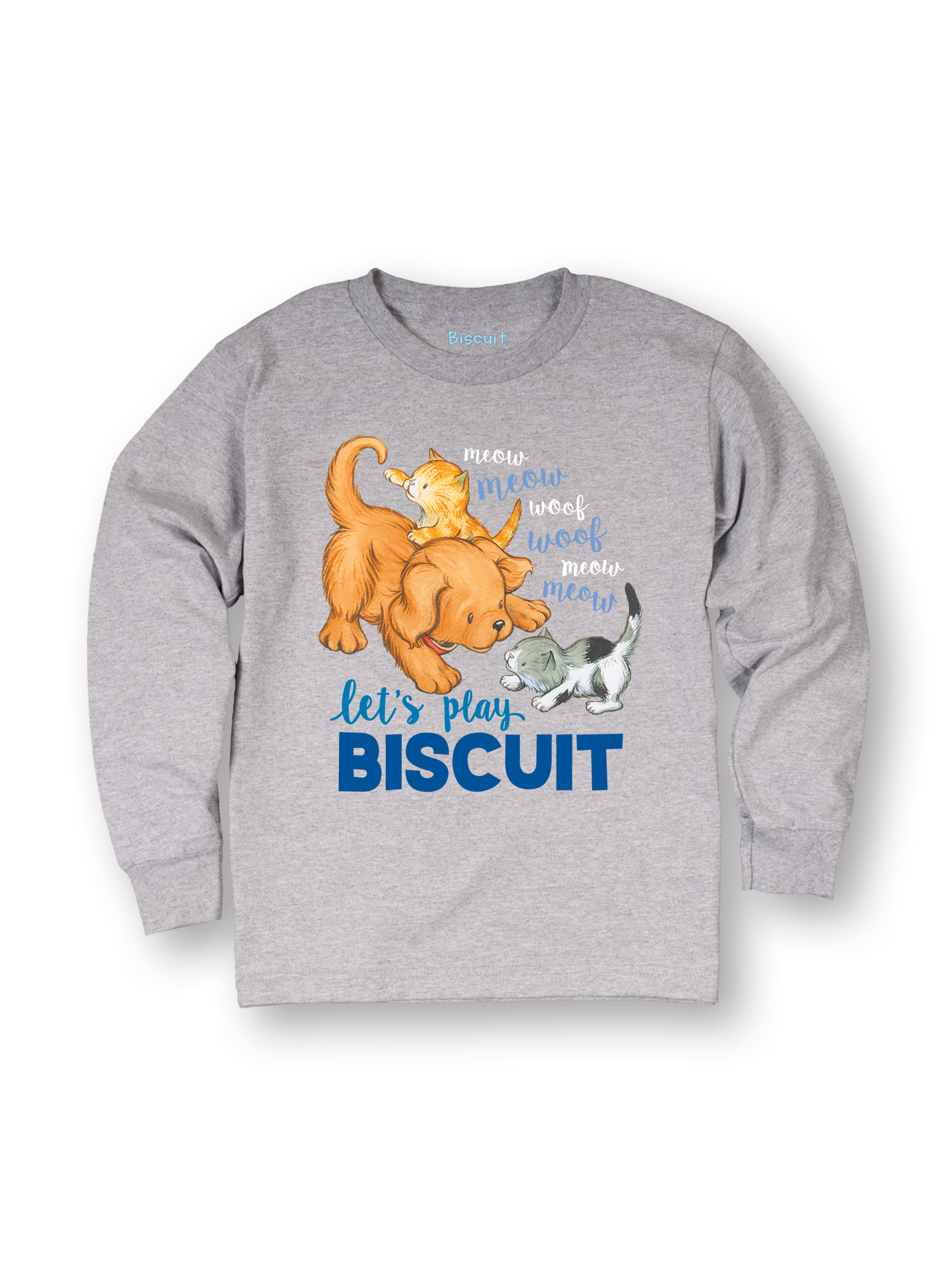 Biscuit Let's Play TODDLER LONG SLEEVE TEE