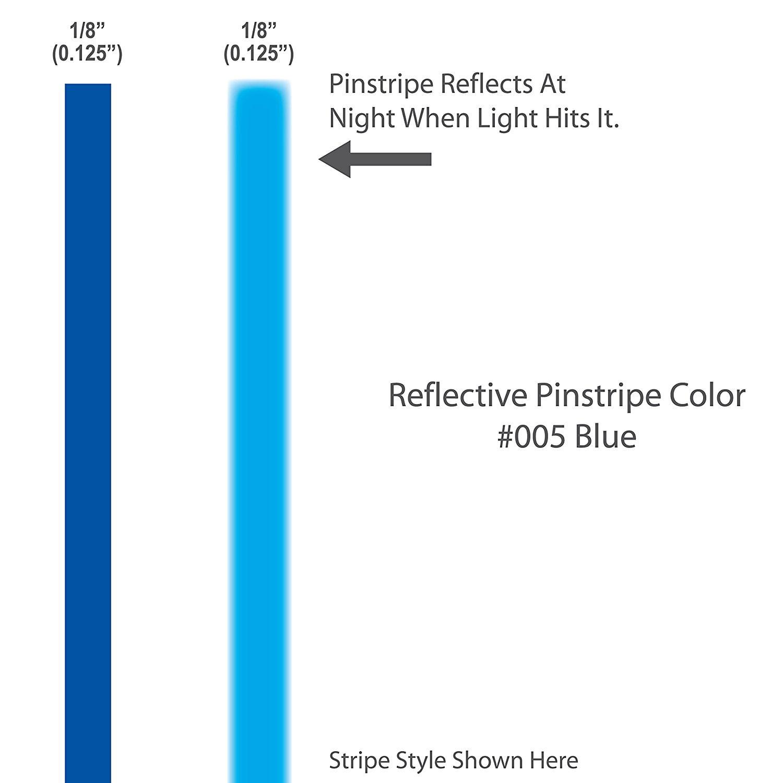 "1//8/"" Reflective BLACK Pinstriping Tape 5 pc 1 ft long"