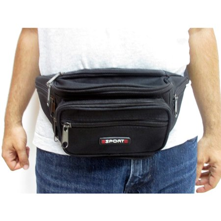 New Black Waist Fanny Pack Belt Bag Pouch Travel Sport Hip Purse Men Women Bum
