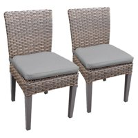 TK Classics Oasis Armless Outdoor Dining Chairs