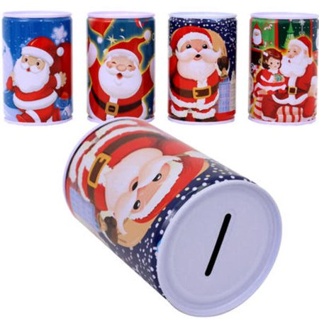 48 Bank - Christmas Cylindrical Penny Bank Case Pack 48