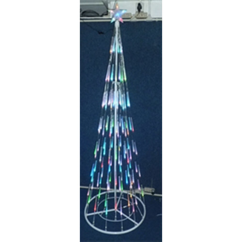 LB International 7' Multi-Colored Bubble Cone Light Christmas Tree Decoration