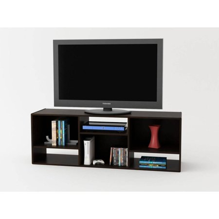 Ameriwood Home Nash BookcaseTV Stand for TVs up to 60 Espresso – 60 Wide Bookcase