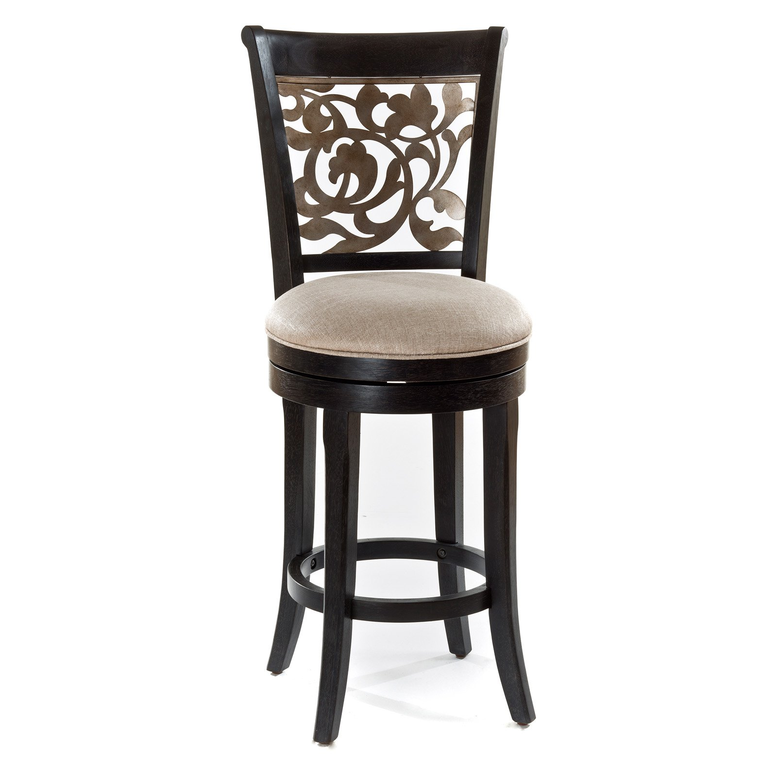 Bennington Swivel Counter Stool, Black Distressed Grey by Hillsdale Furniture LLC