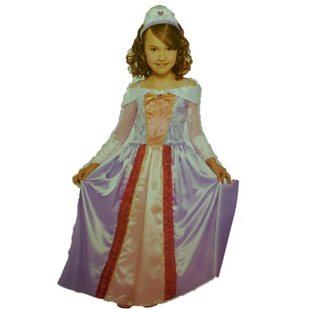 Totally Ghoul Girls Enchanting Princess Costume with Gown & Headpiece Large