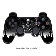 Skin Stickers for Playstation 3 Controller - Vinyl Sticker for DualShock 3 Wireless Game PS3 Sixaxis Controllers - Protectors Sticker Controller Decal Reaper Black