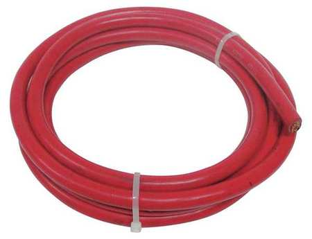 Welding Cable,4 AWG,10 ft.,Red,Rubber WESTWARD 19YE24
