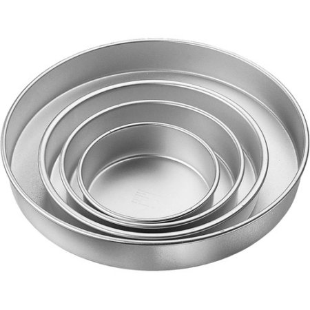 Wilton Performance Pans Round Cake Pan Set, 4-Piece, 2 in. Deep
