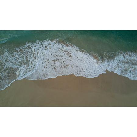 Canvas Print Drone Beach Foam Stretched Canvas 10 x 14