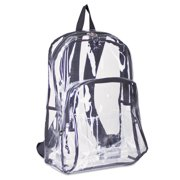 Eastsport Two-Compartment PVC Plastic Clear Backpack