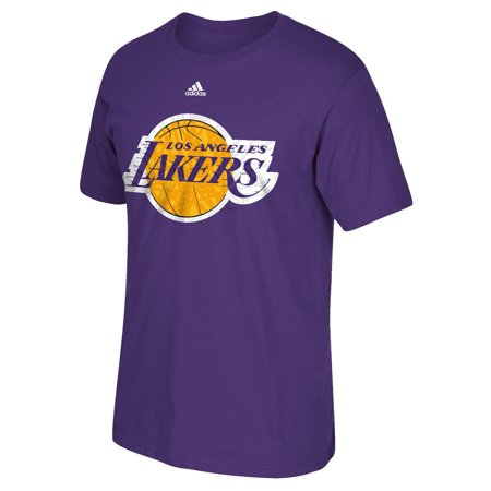 Los Angeles Lakers Adidas Nba  Cut The Net  Premium Print S S Mens T Shirt