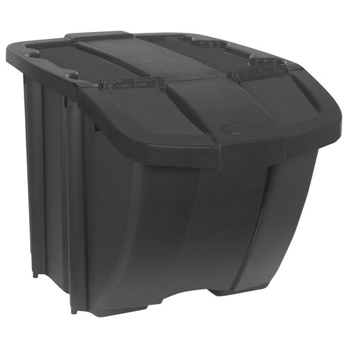 Suncast 18-Gallon Hopper Bin, Black