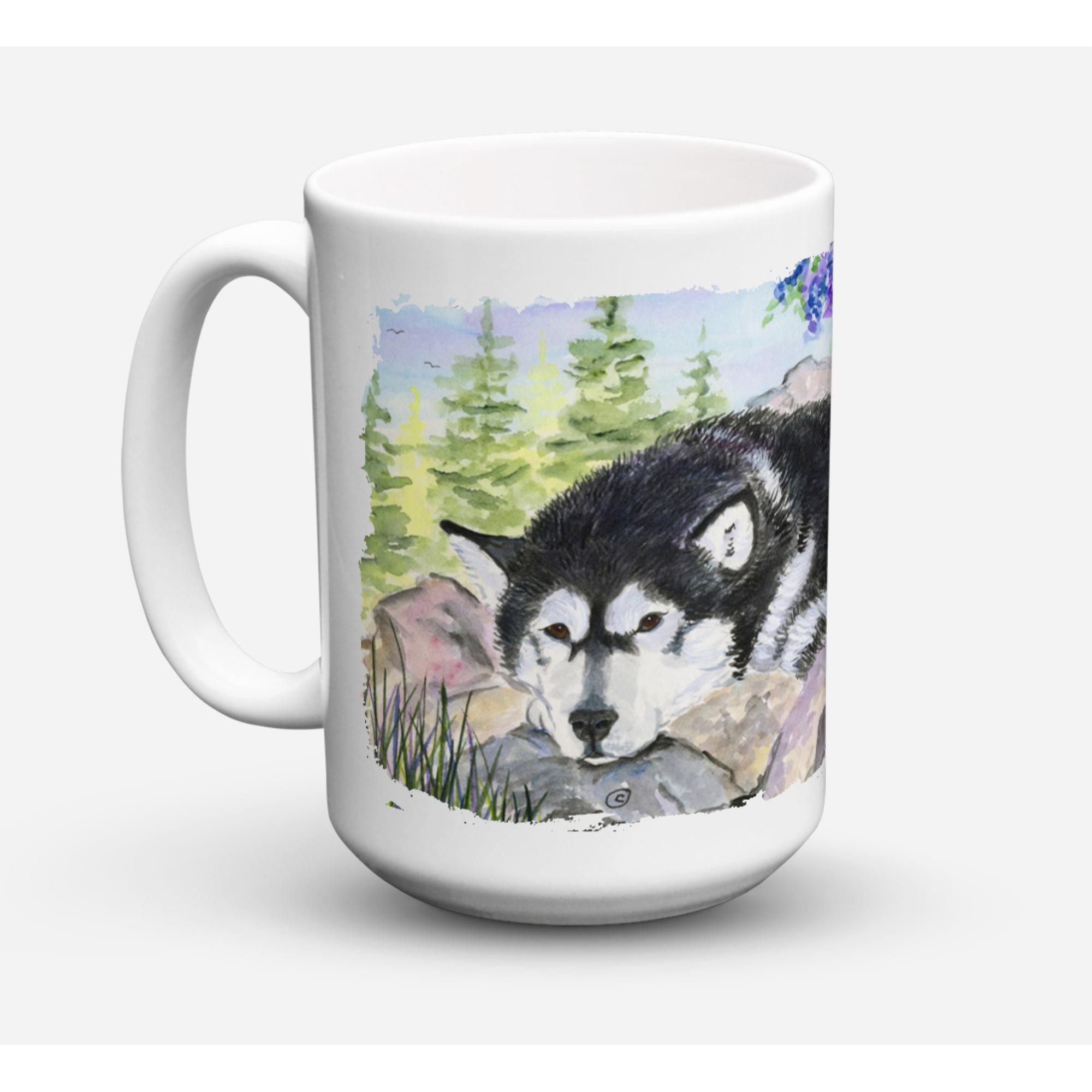 Caroline S Treasures Ss8062cm15 Alaskan Malamute Microwavable Ceramic Coffee Mug 15 Oz Multicolor Walmart Com Walmart Com