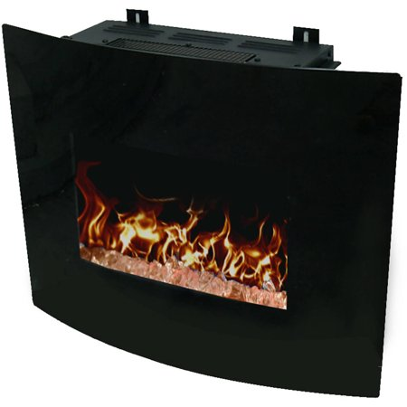 Decor flame 24 wall mounted fireplace for 24 wall mount electric fireplace