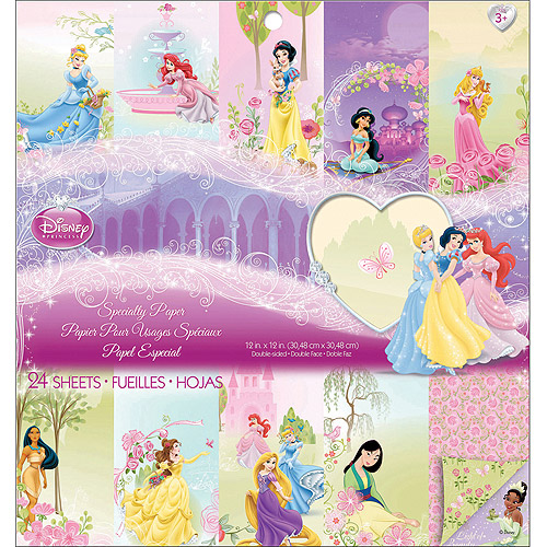 "Disney Princess 12"" x 12"" Specialty Paper Pad, 24 Sheets,"