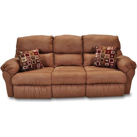 Charleston Reclining Sofa With Drop Down Table Chocolate