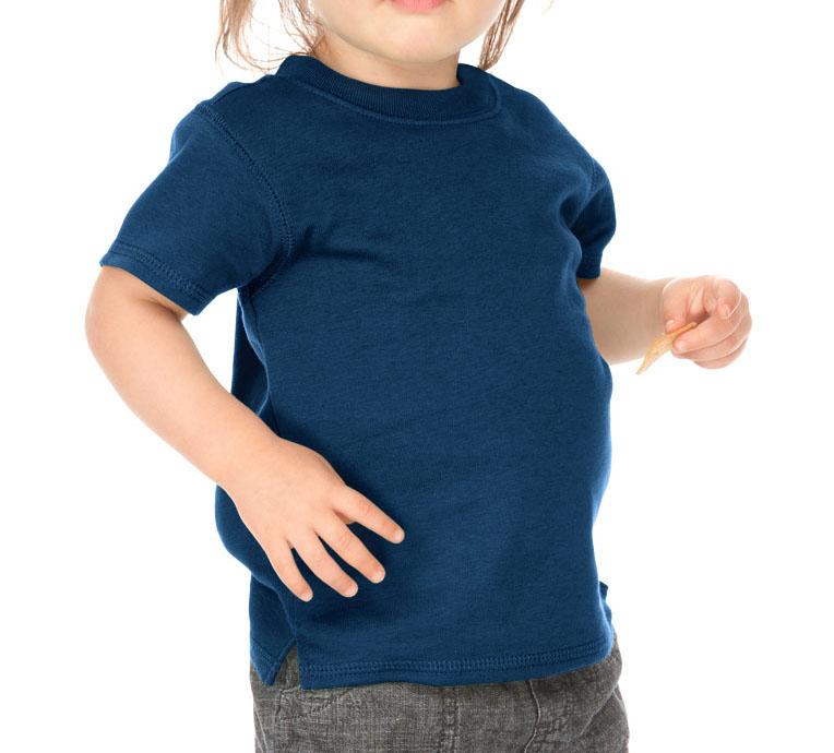 Kavio I1C0194 Infants Scoop Neck Short Sleeve Top-Indigo-6M