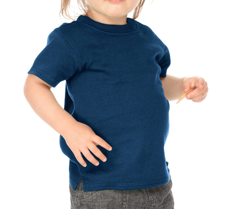 Kavio I1C0194 Infants Scoop Neck Short Sleeve Top-Indigo-6M