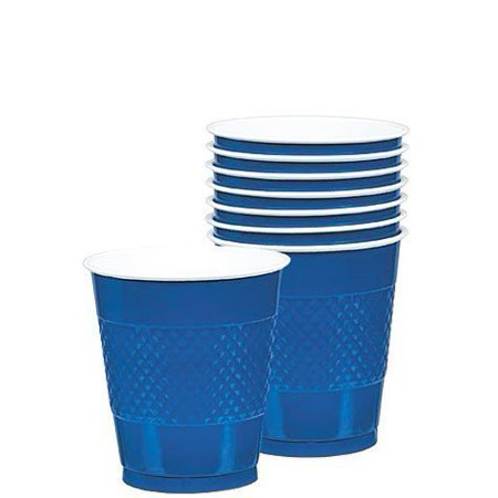 Plastic Cups   20ct (12oz, Bright Royal Blue)