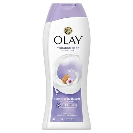 Olay Daily Moisture with Almond Milk Body Wash, 22 oz Almond Shower Gel