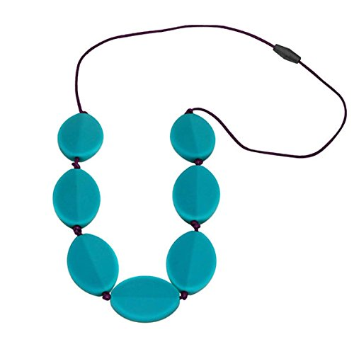 Jellystone Caru Necklace, Turquoise Baja Green with Eggplant cord by Jellystone Designs