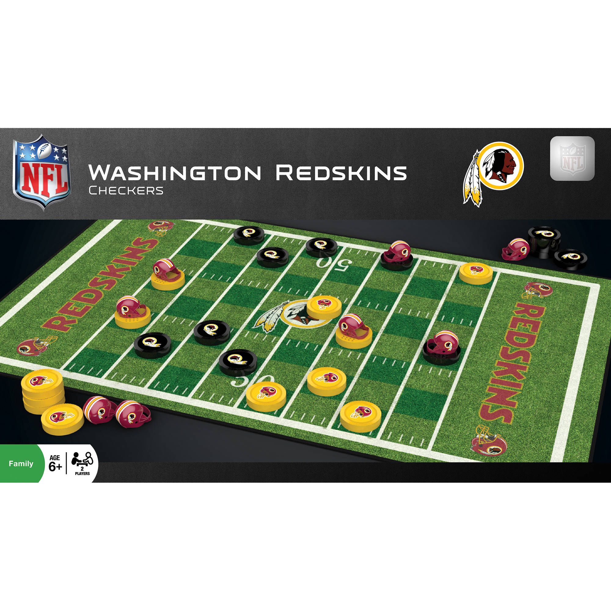 MasterPieces NFL Washington Redskins Checkers Game by Generic
