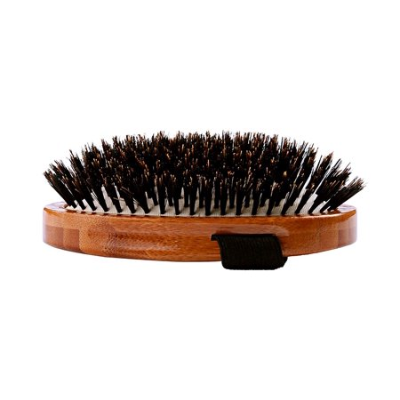   Shine & Condition Pet Brush Natural Bristle   Pure Bamboo Handle   Palm Style   Dark Finish   Model A2-DB, Premium natural bristles distribute natural oils,.., By Bass Brushes