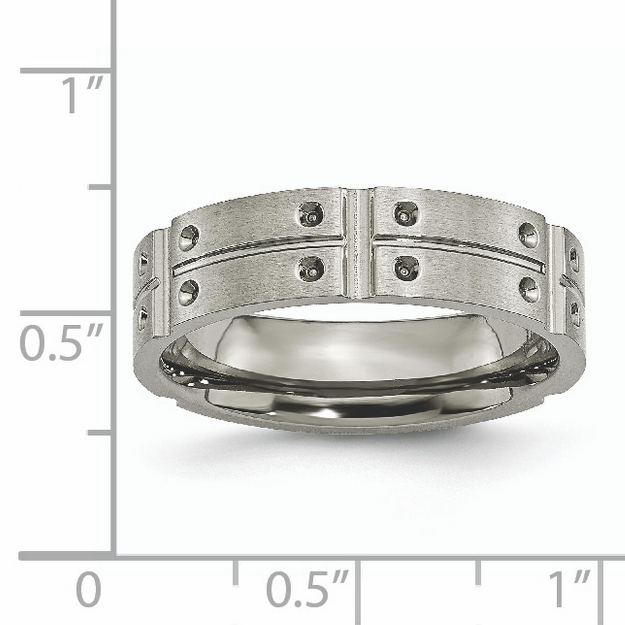 Titanium 6mm Brushed Wedding Ring Band Size 12.50 Fancy Fashion Jewelry Gifts For Women For Her - image 2 de 10
